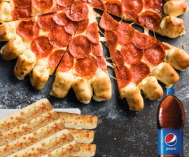 Fiesta Pepperoni Lovers Cheesy Bites - Pizza Hut